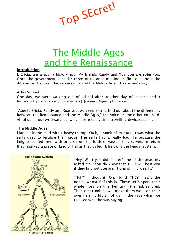 SEc ret!                         Top                  The Middle Ages                and the RenaissanceIntroductionI, Eri...