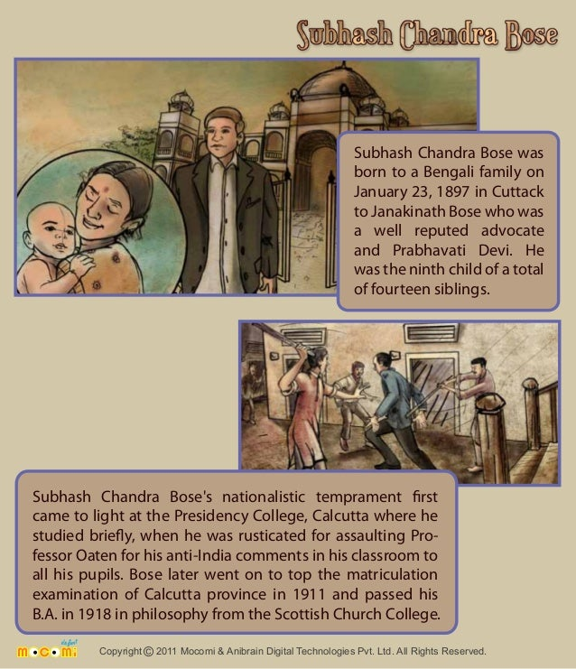 Subhash Chandra Bose was  born to a Bengali family on  January 23, 1897 in Cuttack  to Janakinath Bose who was  a well rep...