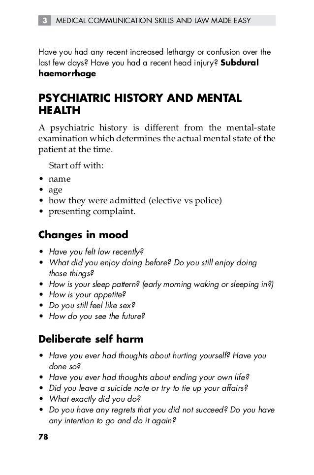 Psychiatric History Template - Apigram.Com