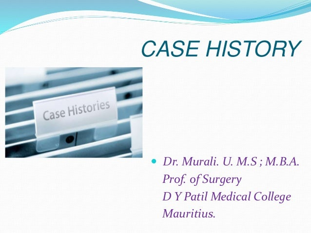 History taking - For Surgical patients
