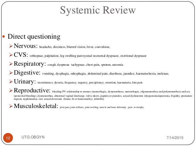 male reproductive system assessment