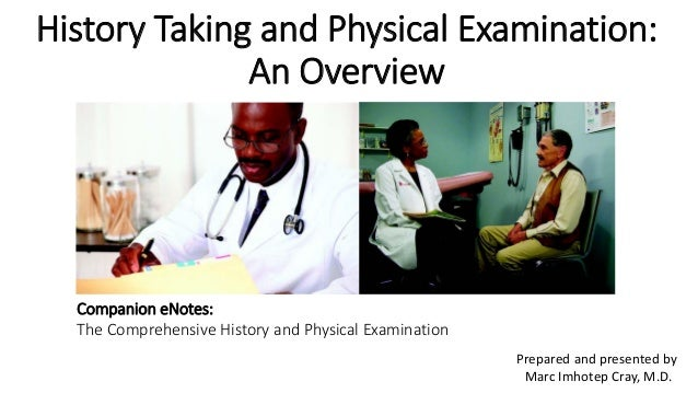History Taking And Physical Examination An Overview