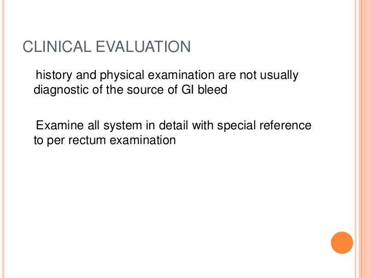 History taking and physical examination for lower gastro intestinal b history taking and physical examination for lower gastro intestinal bleed sciox Images