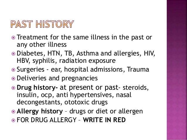 History taking in ear diseases