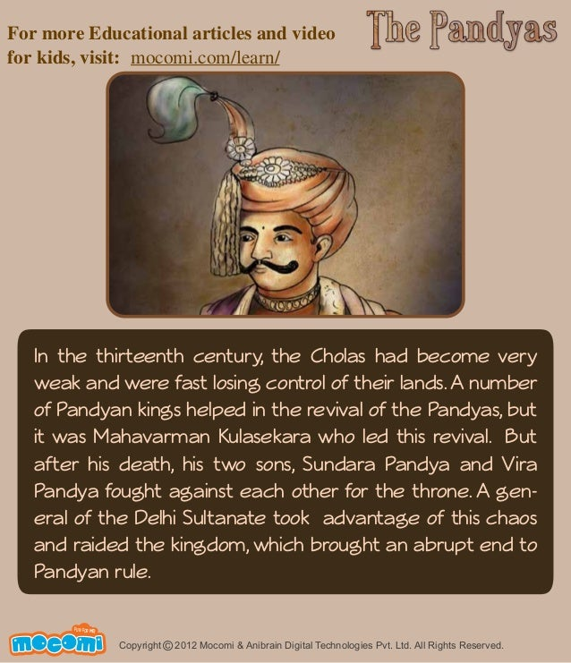 For more Educational articles and video  for kids, visit: mocomi.com/learn/  In the thirteenth century, the Cholas had bec...