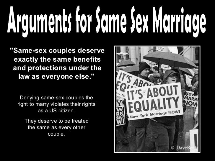 same sex marriage ppt arguments for same sex marriage