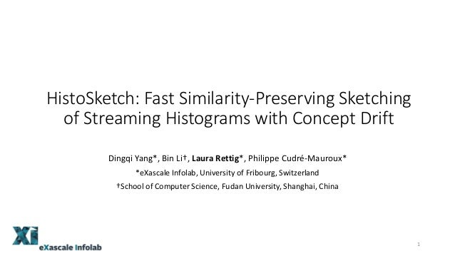 HistoSketch: Fast Similarity-Preserving Sketching of Streaming Histograms with Concept Drift Dingqi Yang*, Bin Li†, Laura ...