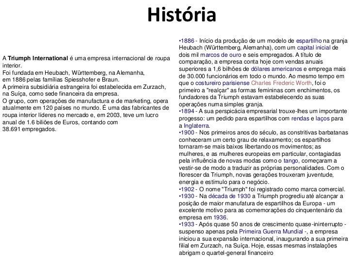 História                                                                  •1886 - Início da produção de um modelo de espar...