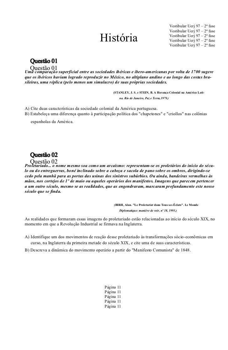 Vestibular Uerj 97 – 2ª fase                                                                                              ...