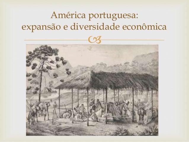 América portuguesa:expansão e diversidade econômica