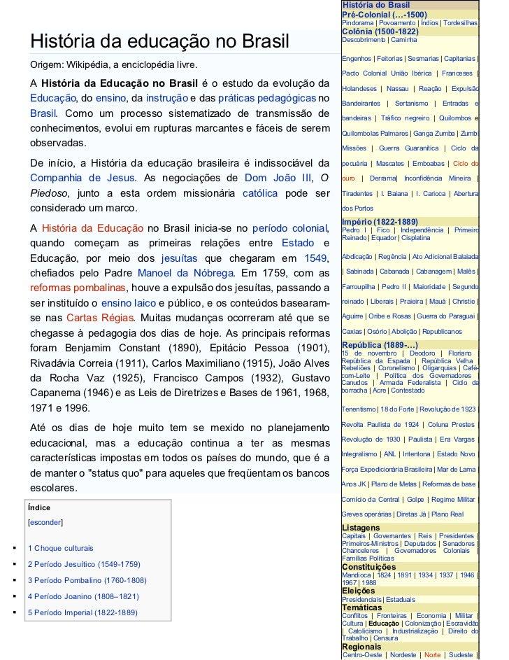 História do Brasil                                                                         Pré-Colonial (…-1500)          ...