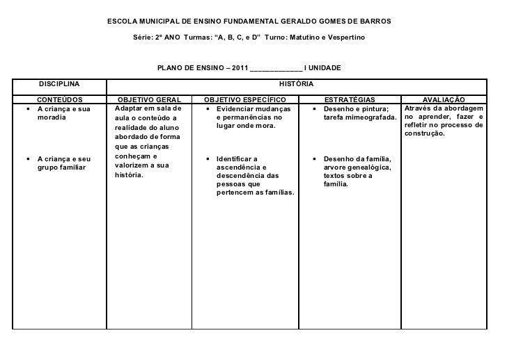 """ESCOLA MUNICIPAL DE ENSINO FUNDAMENTAL GERALDO GOMES DE BARROS                           Série: 2º ANO Turmas: """"A, B, C, e..."""
