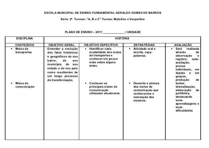 """ESCOLA MUNICIPAL DE ENSINO FUNDAMENTAL GERALDO GOMES DE BARROS                           Série: 2ª Turmas: """"A, B e C"""" Turn..."""