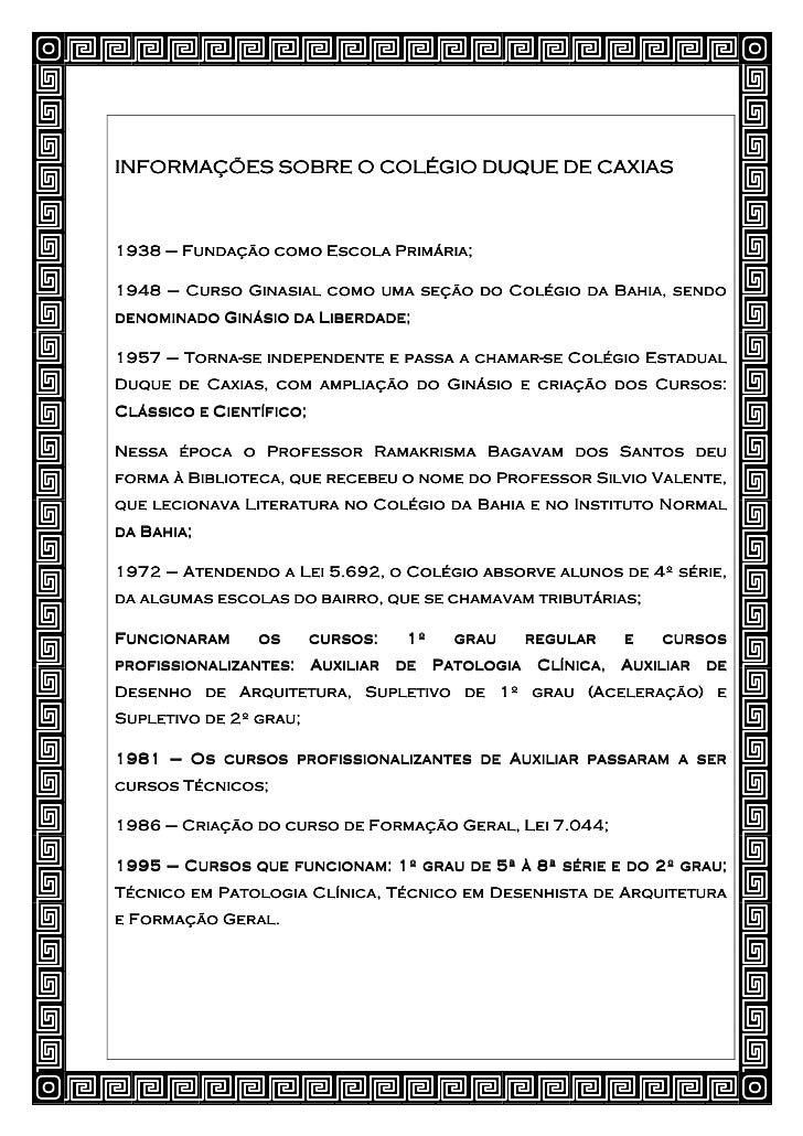 História Colégio Duque de Caxias