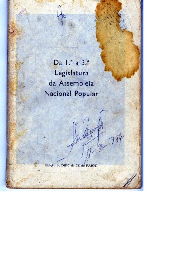História da ANP sobre as Três  1ª legislaturas