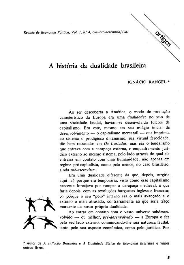 A história da dualidade brasileira
