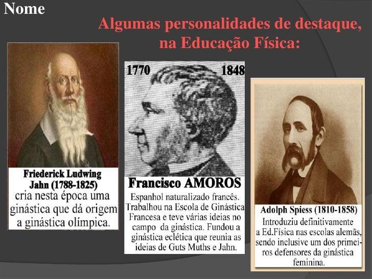 Nome  Educação Física no Brasil  Os índios e os negros    contribuíram para     Educação Física     através da forma   rús...