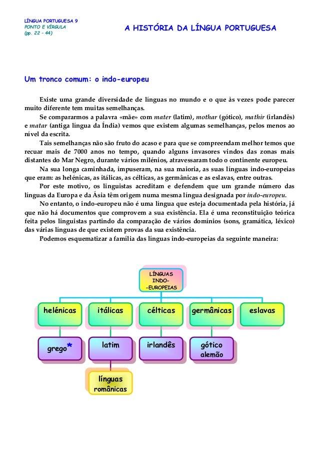 Um tronco comum: o indo-europeu Existe uma grande diversidade de línguas no mundo e o que às vezes pode parecer muito dife...