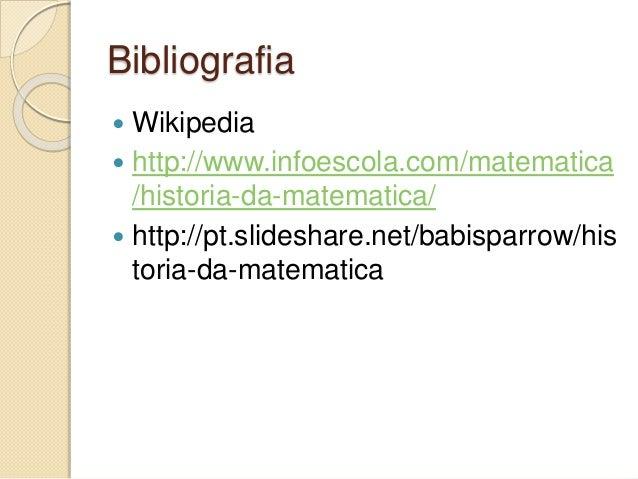 História da matemática ATPS