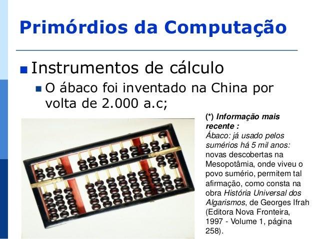História da Tecnologia da Informação e Comunicação  Slide 2
