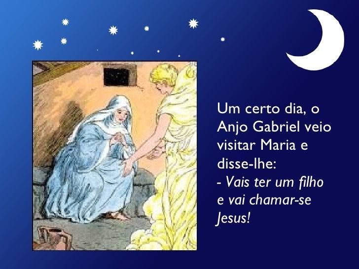 História do Nascimento de Jesus Slide 2