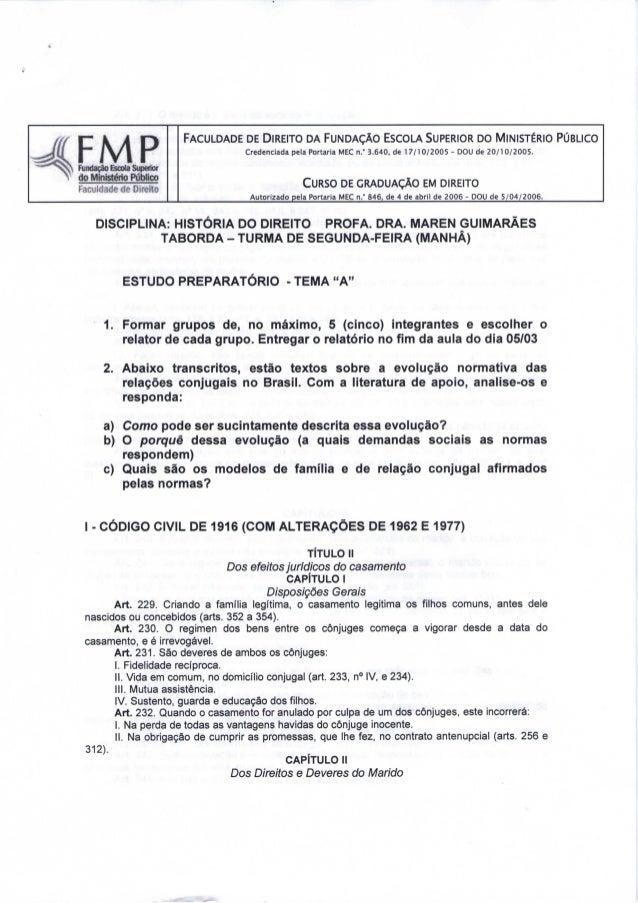 FACULDADE DE DIREITO DA FUNDAÇÃO ESCOLA SUPERIOR DO MINISTÉRIO PÚBLICO  Credenciada pela Portaria MEC n.' 3.640, de 17/10/...