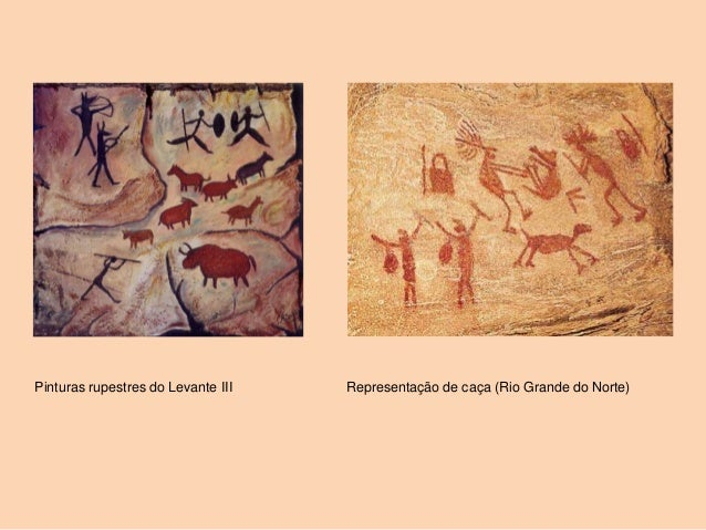 Pinturas rupestres do Levante III   Representação de caça (Rio Grande do Norte)