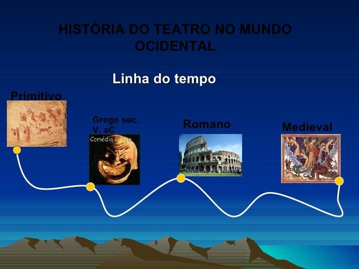HISTÓRIA DO TEATRO NO MUNDO                  OCIDENTAL                Linha do tempoPrimitivo            Grego sec.       ...