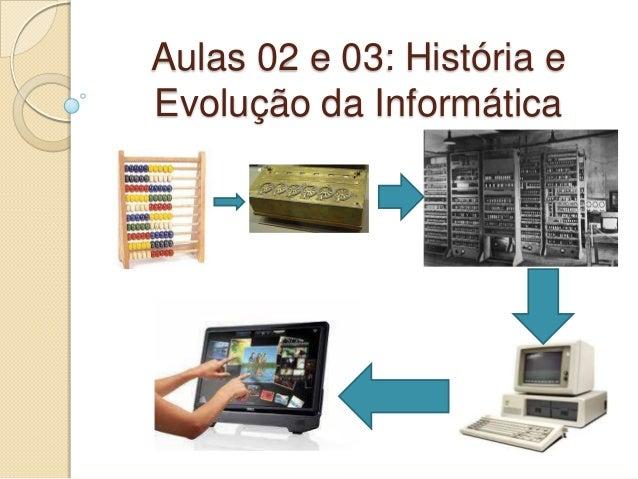 Aulas 02 e 03: História e Evolução da Informática