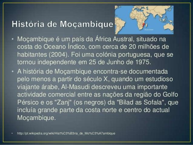História e Geografia de Moçambique Slide 2