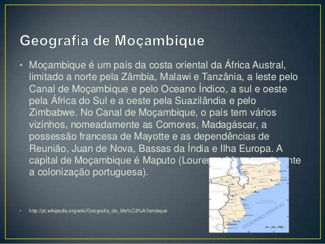 História e Geografia de Moçambique Slide 3