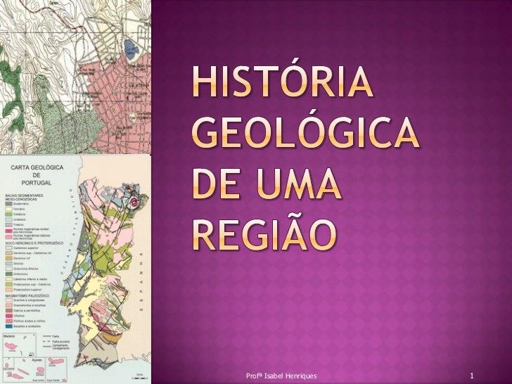 Profª Isabel Henriques   1