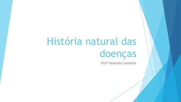 História natural das doenças Profº Amanda Castanho