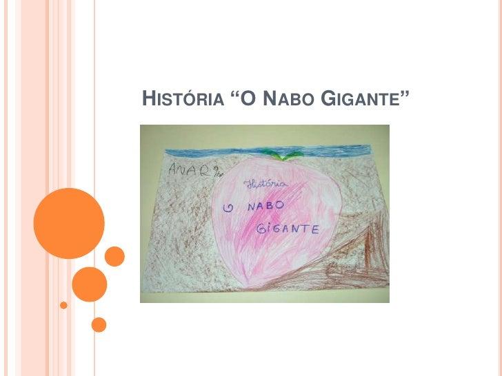 "História ""O Nabo Gigante""<br />"