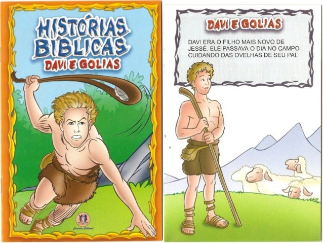 Histórias bíblicas   davi e golias