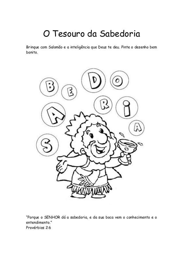 Ministerio Agua Viva Kids Salomao Desenhos E Atividades