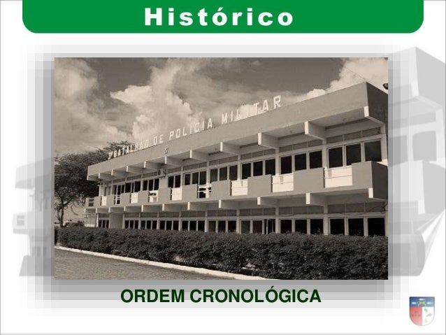 ORDEM CRONOLÓGICA