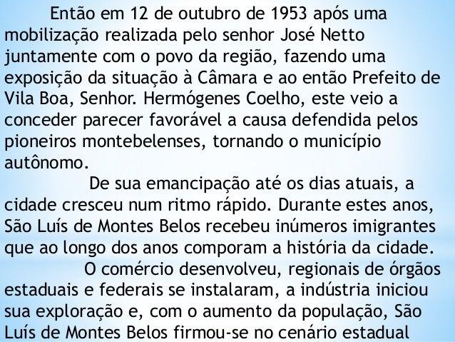 História de São Luis de Montes Belos - GOIÁS Slide 3