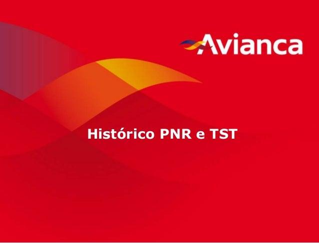 1 Histórico PNR e TST