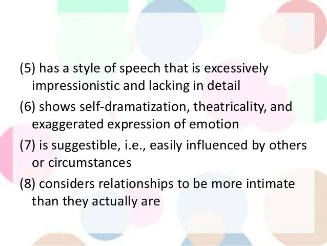 impressionistic style of speech