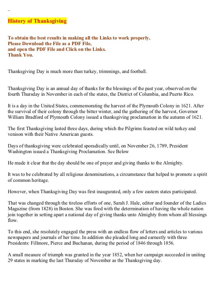 ~History of ThanksgivingTo obtain the best results in making all the Links to work properly,Please Download the File as a ...