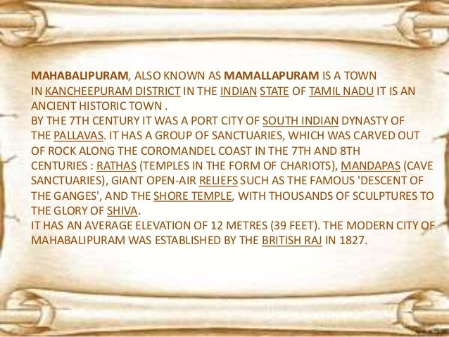 """""""THE FIVE-STOREY SHORE TEMPLES AT MAMALLAPURAM...ARE BUILT IN STONE MASONRY, NOT CARVED FROM THE SOLID, AND DATE FROM THE ..."""