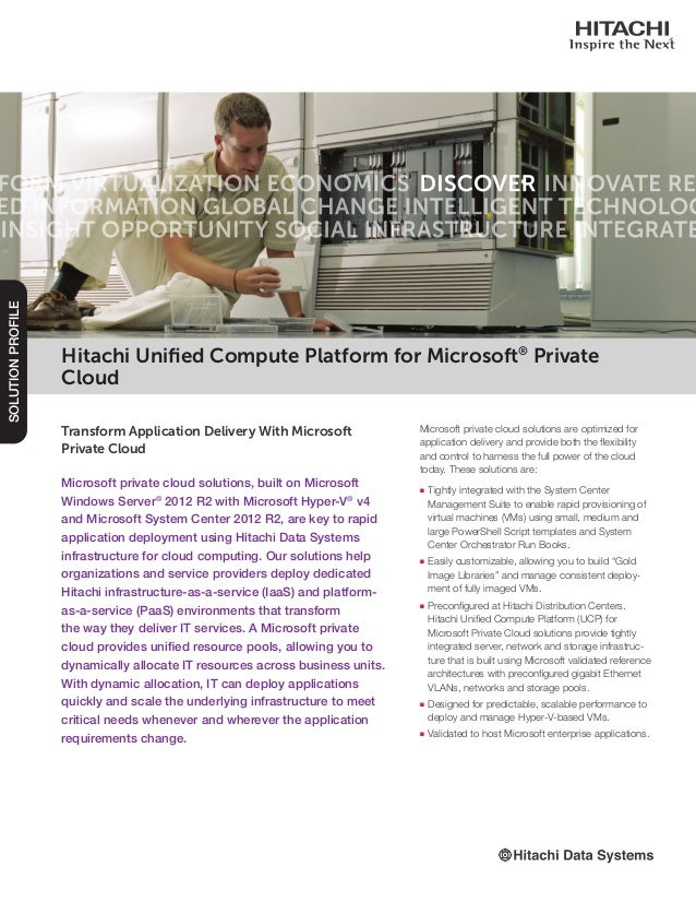 Transform Application Delivery With Microsoft Private Cloud Microsoft private cloud solutions, built on Microsoft Windows ...