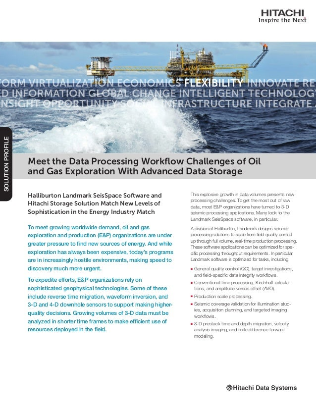 Meet the Data Processing Workflow Challenges of Oil and Gas Explorati…