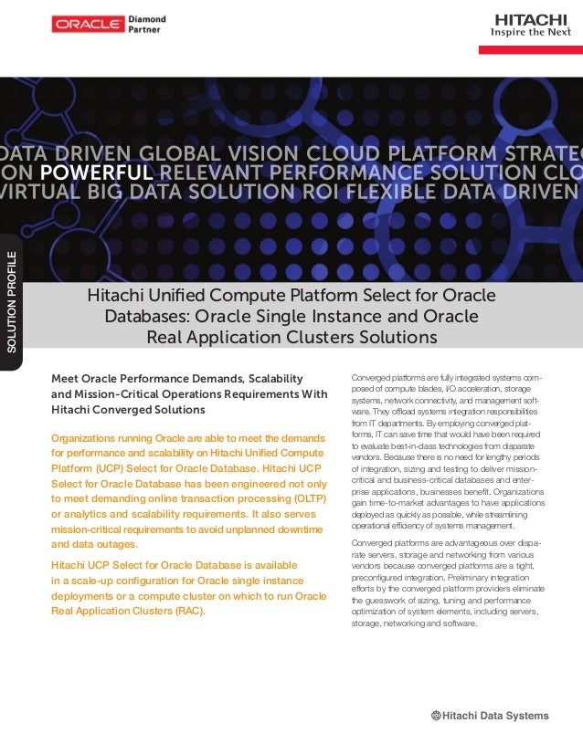 Hitachi Unified Compute Platform Select for Oracle Databases