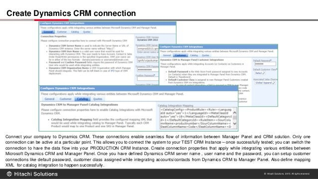 © Hitachi Solutions. 2015. All rights reserved. Connect your company to Dynamics CRM. These connections enable seamless fl...
