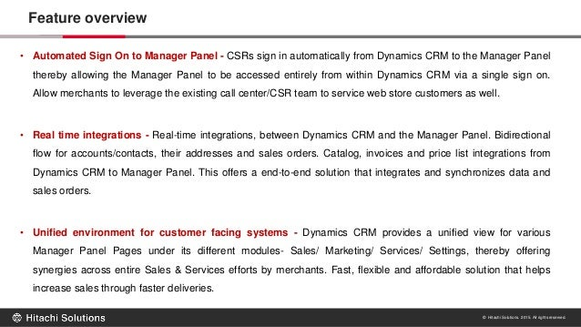 Hitachi Solutions Ecommerce Integration with Dynamics CRM 2013 Slide 3