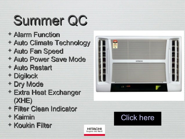 new concept 3c890 861b3 Window Air Conditioners by Hitachi