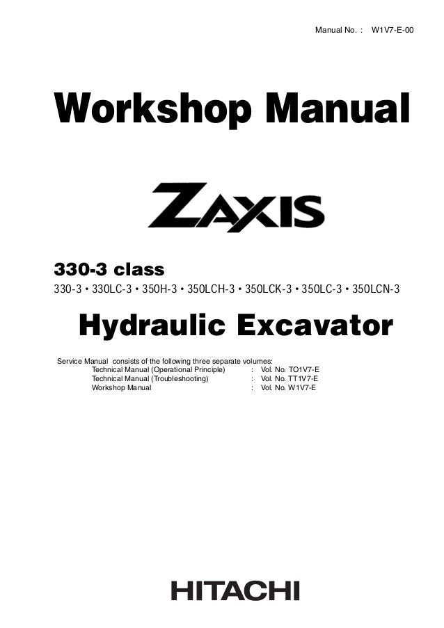 hitachi zaxis 350 lck 3 excavator service repair manual rh slideshare net service manual beverly 350 service manual beverly 350