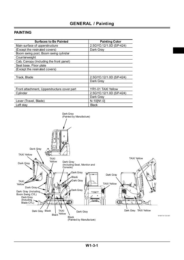 Hitachi zaxis 35 u 3, 35u-3f excavator service repair manual
